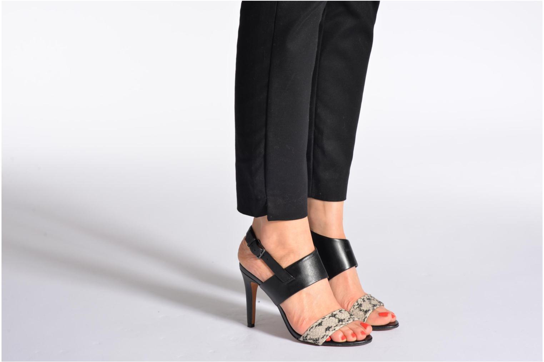 Sandalen Aldo Etung schwarz ansicht von unten / tasche getragen