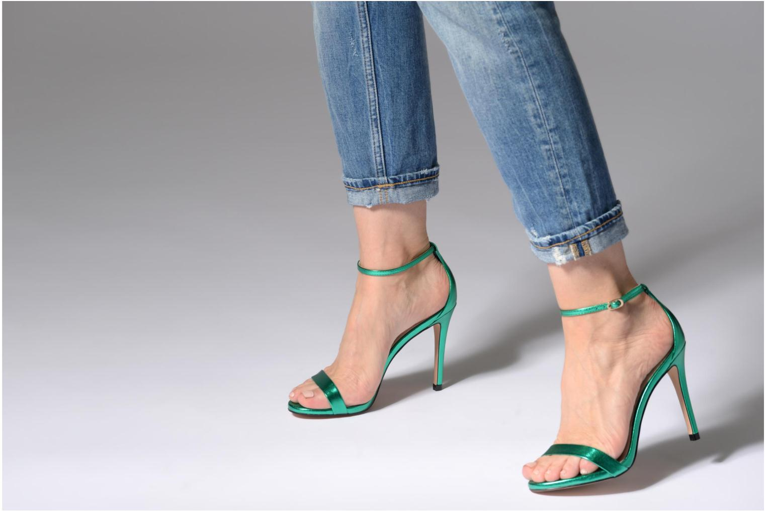 Sandals Steve Madden Stecy Sandal Green view from underneath / model view