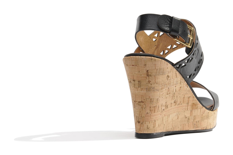 Sandales et nu-pieds Made by SARENZA Bamako #6 Noir vue face