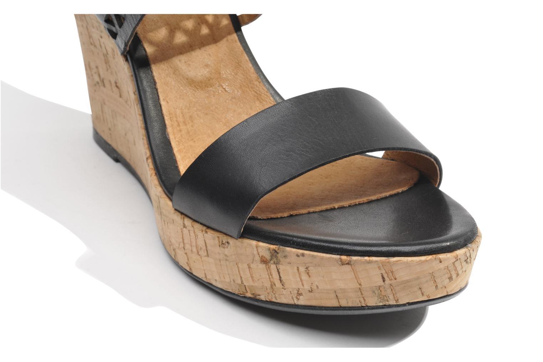 Sandales et nu-pieds Made by SARENZA Bamako #6 Noir vue haut