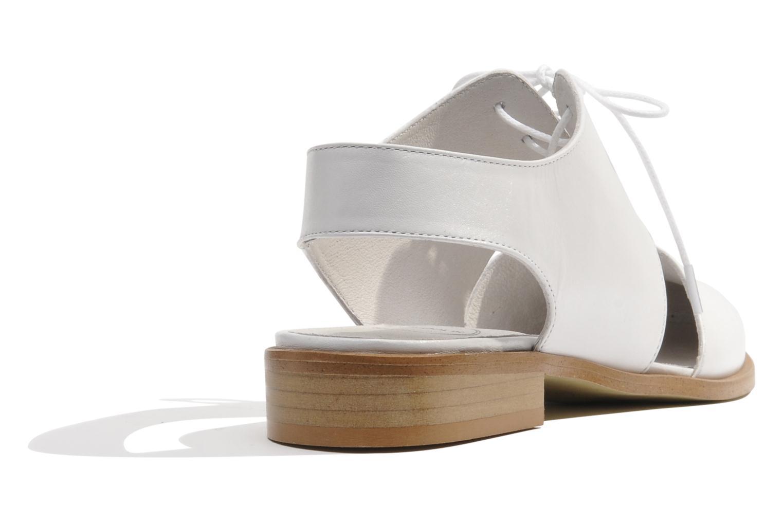 Lace-up shoes Made by SARENZA Parasols de Paris #1 White front view