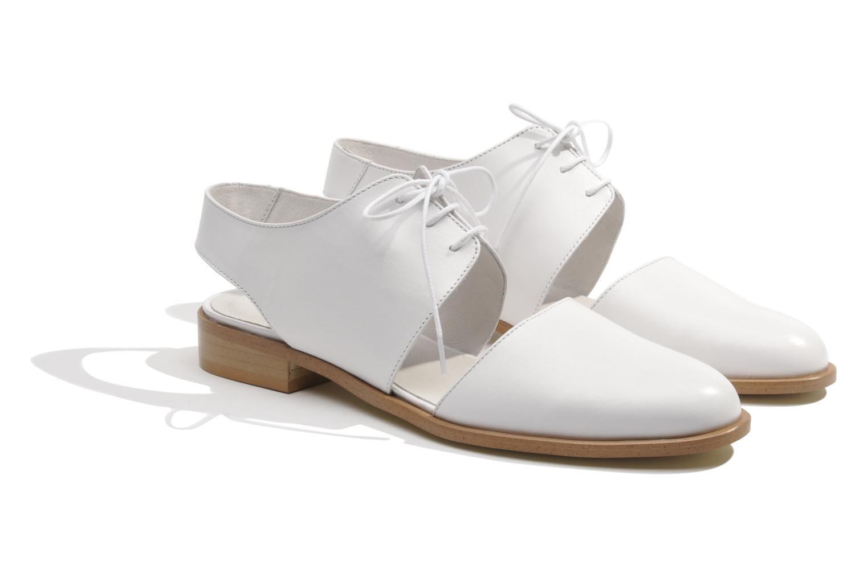 Lace-up shoes Made by SARENZA Parasols de Paris #1 White back view