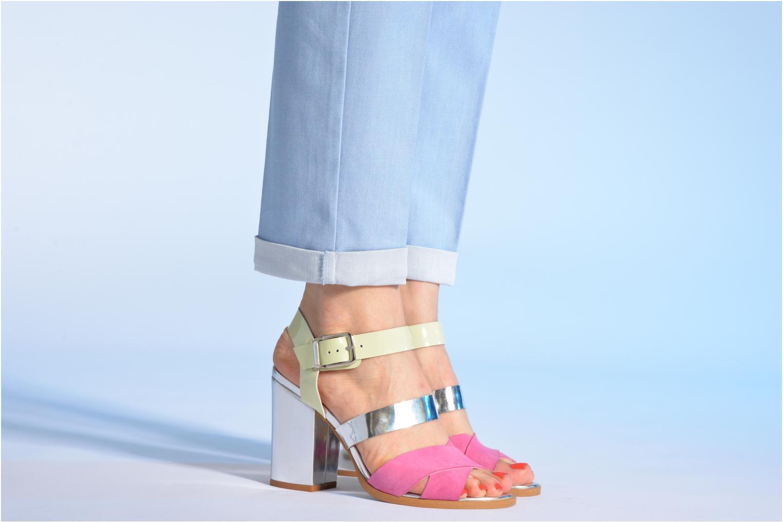 Sandales et nu-pieds Made by SARENZA Guimauve #7 Multicolore vue bas / vue portée sac