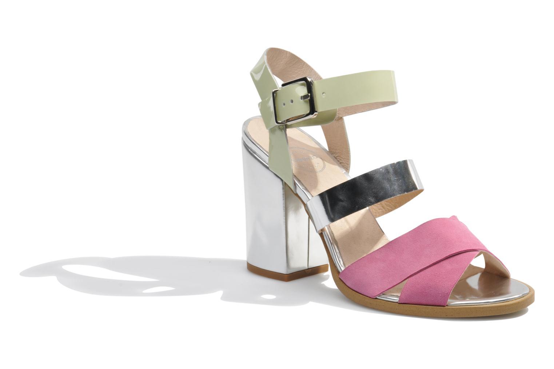 Sandales et nu-pieds Made by SARENZA Guimauve #7 Multicolore vue droite