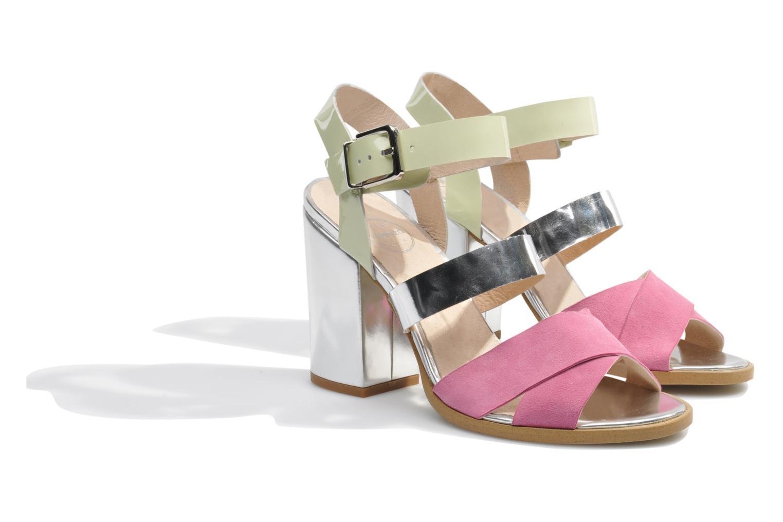 Sandales et nu-pieds Made by SARENZA Guimauve #7 Multicolore vue derrière