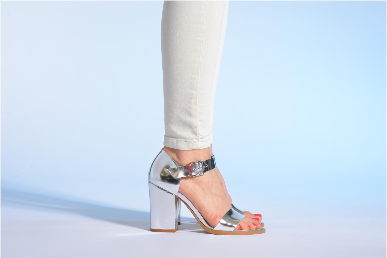 Sandales et nu-pieds Made by SARENZA Guimauve #8 Argent vue bas / vue portée sac