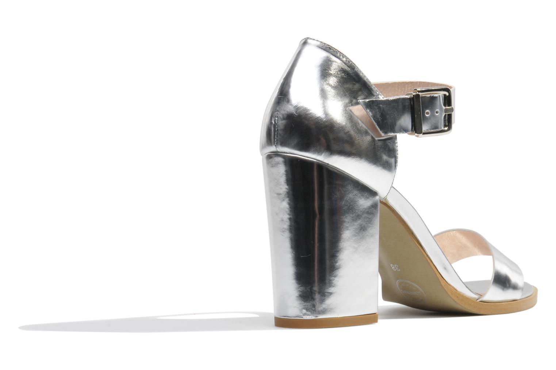 Sandales et nu-pieds Made by SARENZA Guimauve #8 Argent vue face