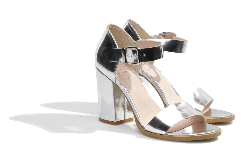 Sandales et nu-pieds Made by SARENZA Guimauve #8 Argent vue derrière