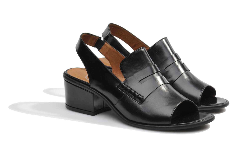 Sandales et nu-pieds Made by SARENZA Guimauve #12 Noir vue derrière