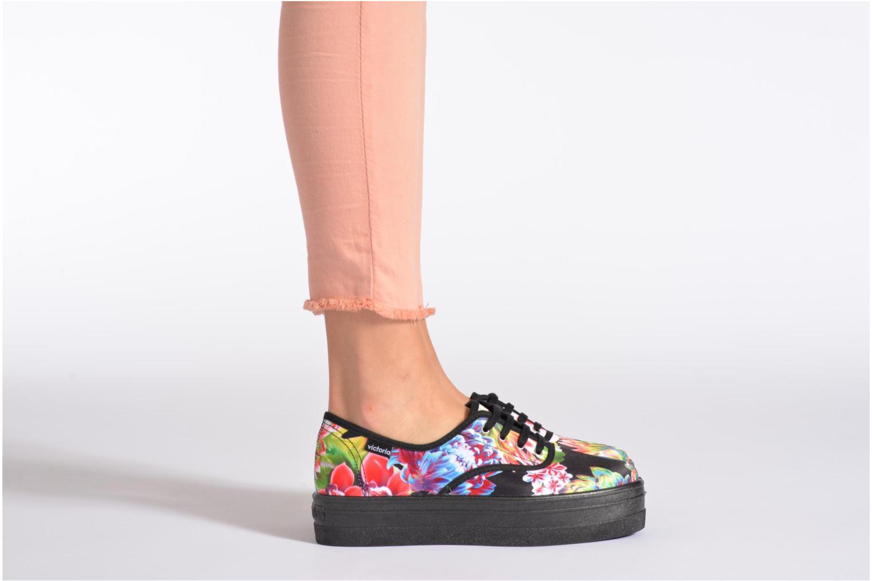 Sneakers Victoria Inglesa Flores Plataforma Multicolor onder