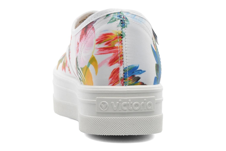 Sneakers Victoria Inglesa Flores Plataforma Multicolor rechts