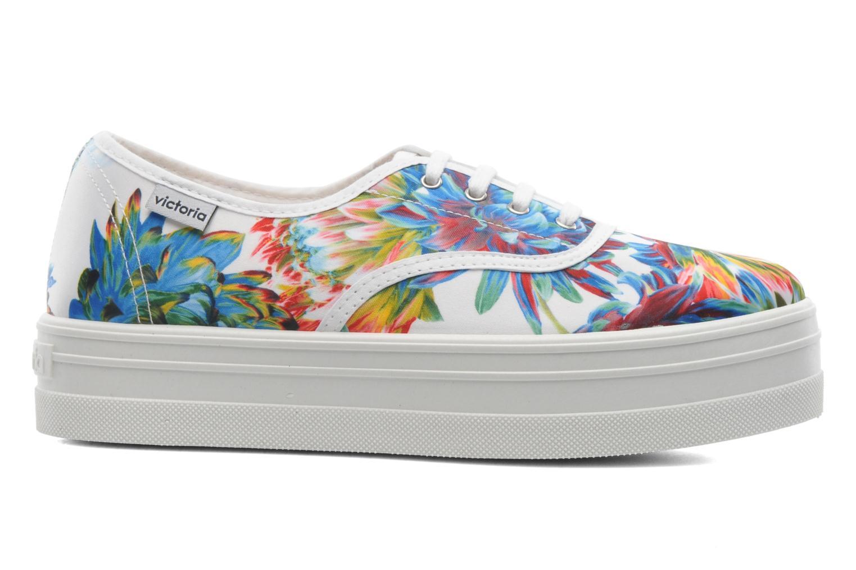 Sneakers Victoria Inglesa Flores Plataforma Multicolor achterkant
