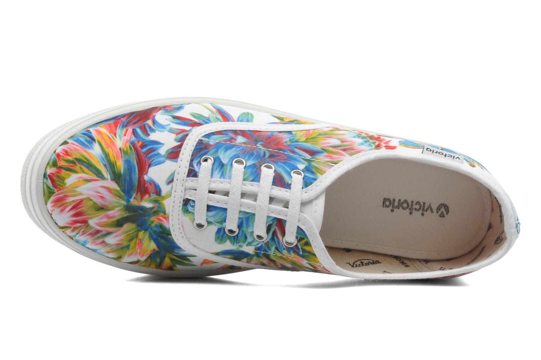 Sneakers Victoria Inglesa Flores Plataforma Multicolor links
