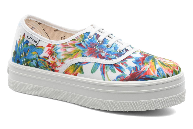 Sneakers Victoria Inglesa Flores Plataforma Multicolor detail