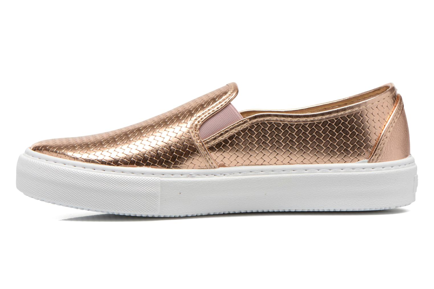 Trainers Victoria Slip-on Metalizada Pink front view
