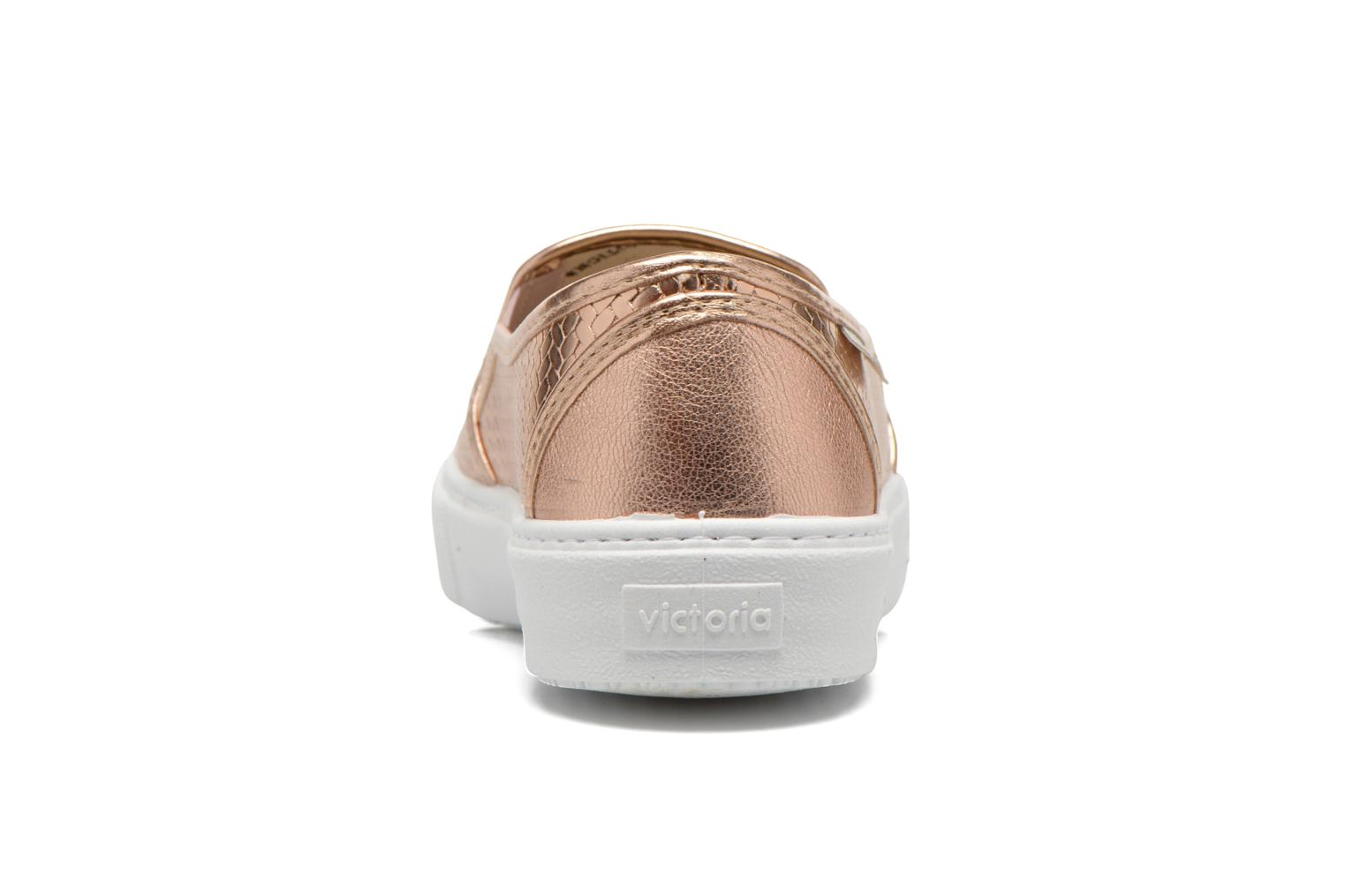 Trainers Victoria Slip-on Metalizada Pink view from the right
