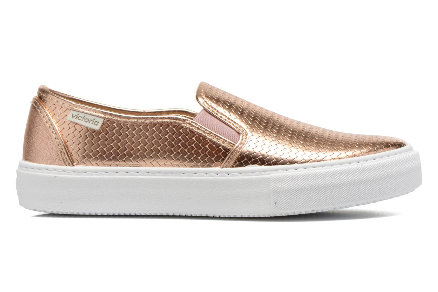 Trainers Victoria Slip-on Metalizada Pink back view