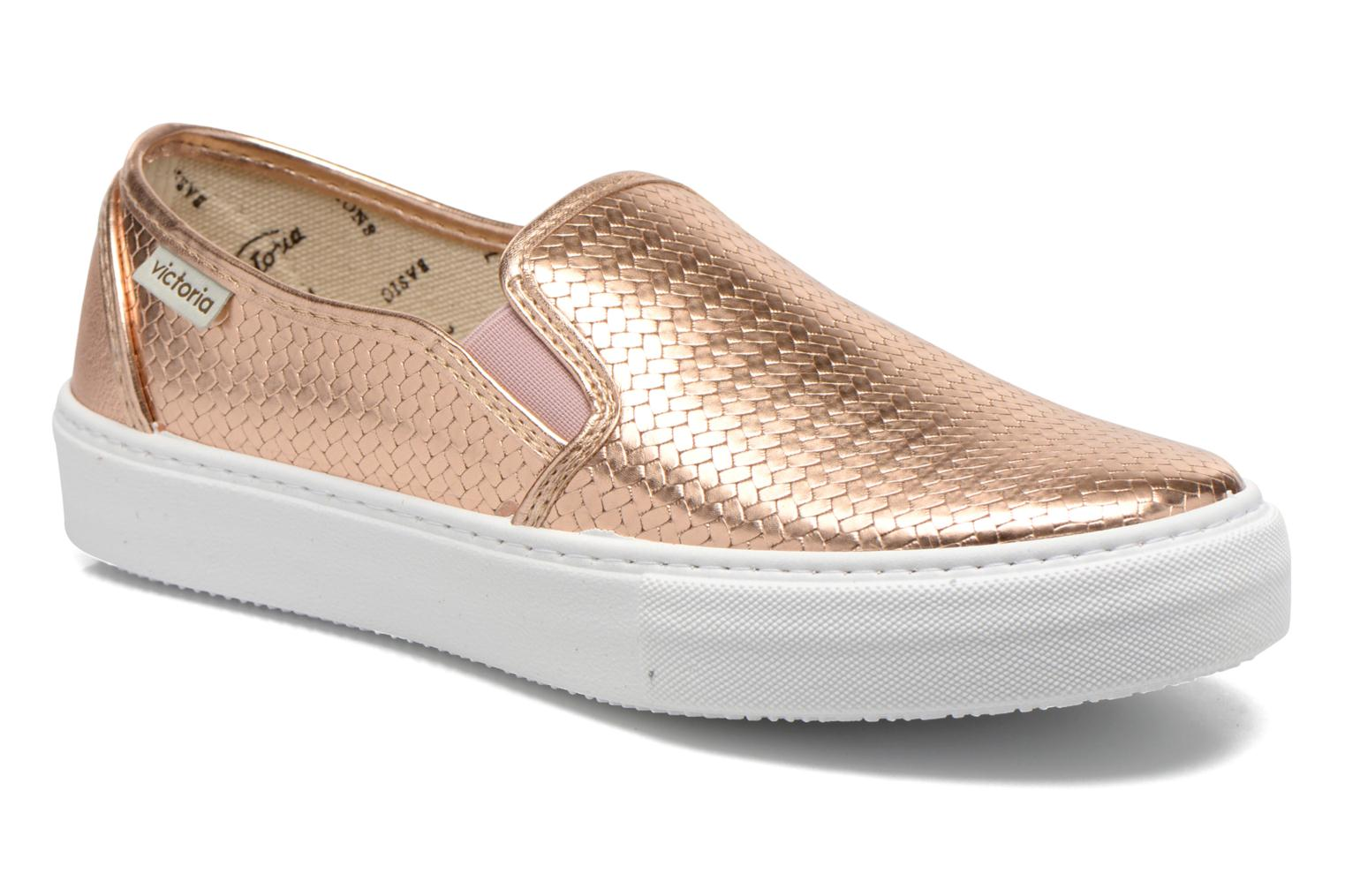 Trainers Victoria Slip-on Metalizada Pink detailed view/ Pair view