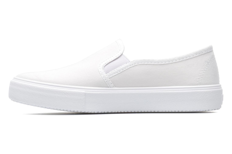 Sneaker Victoria Slip-on Lona weiß ansicht von vorne