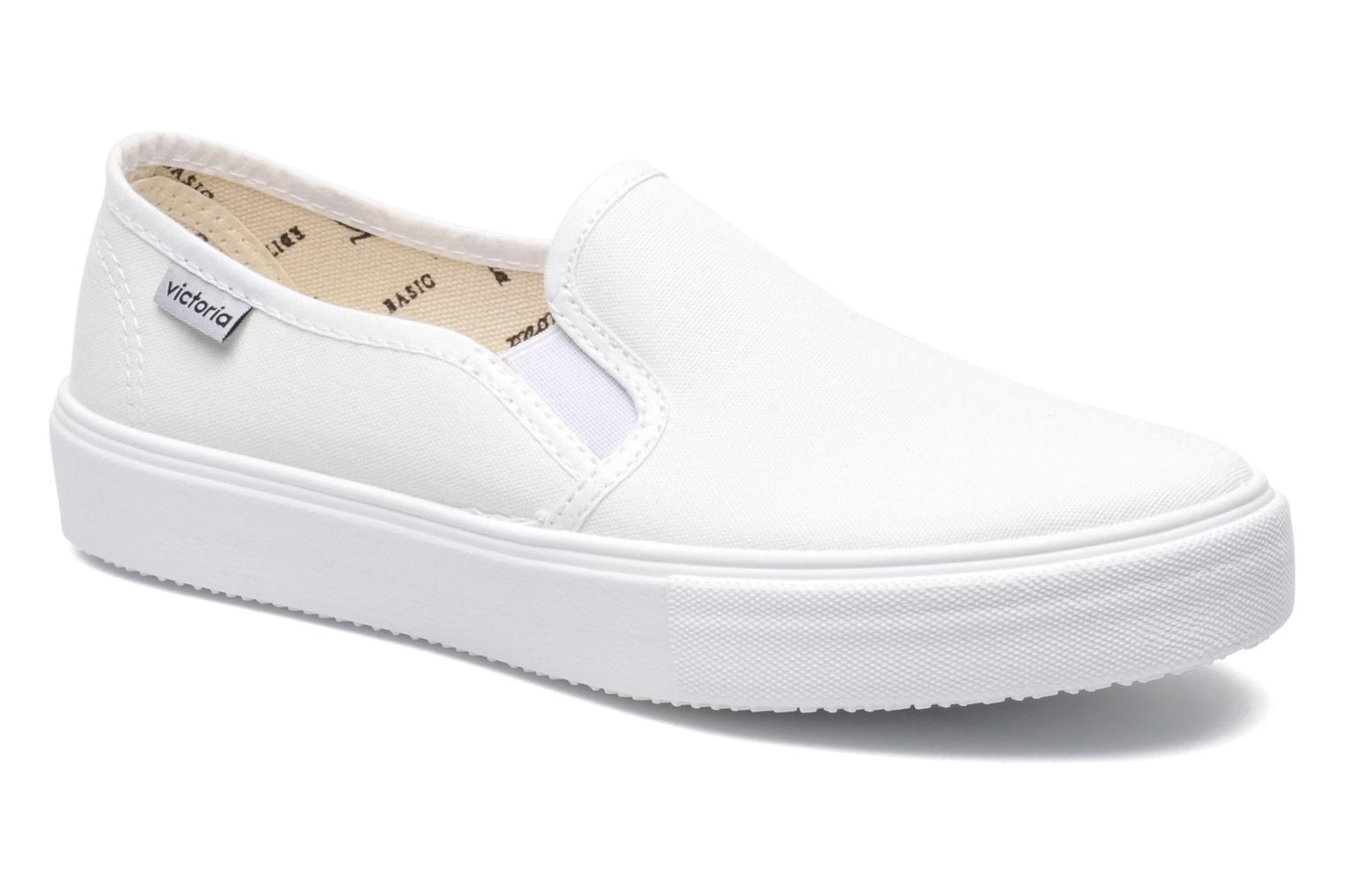 Baskets Victoria Slip-on Lona Blanc vue détail/paire