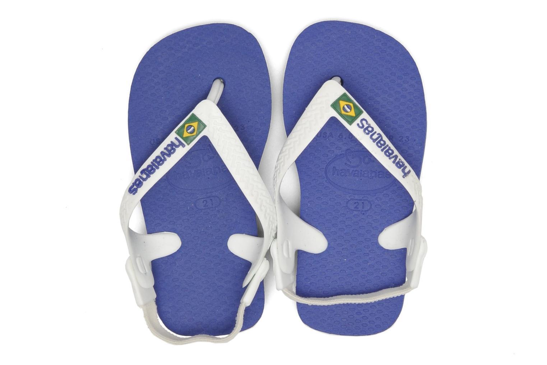Flip flops Havaianas Baby Brazil Logo Blue 3/4 view