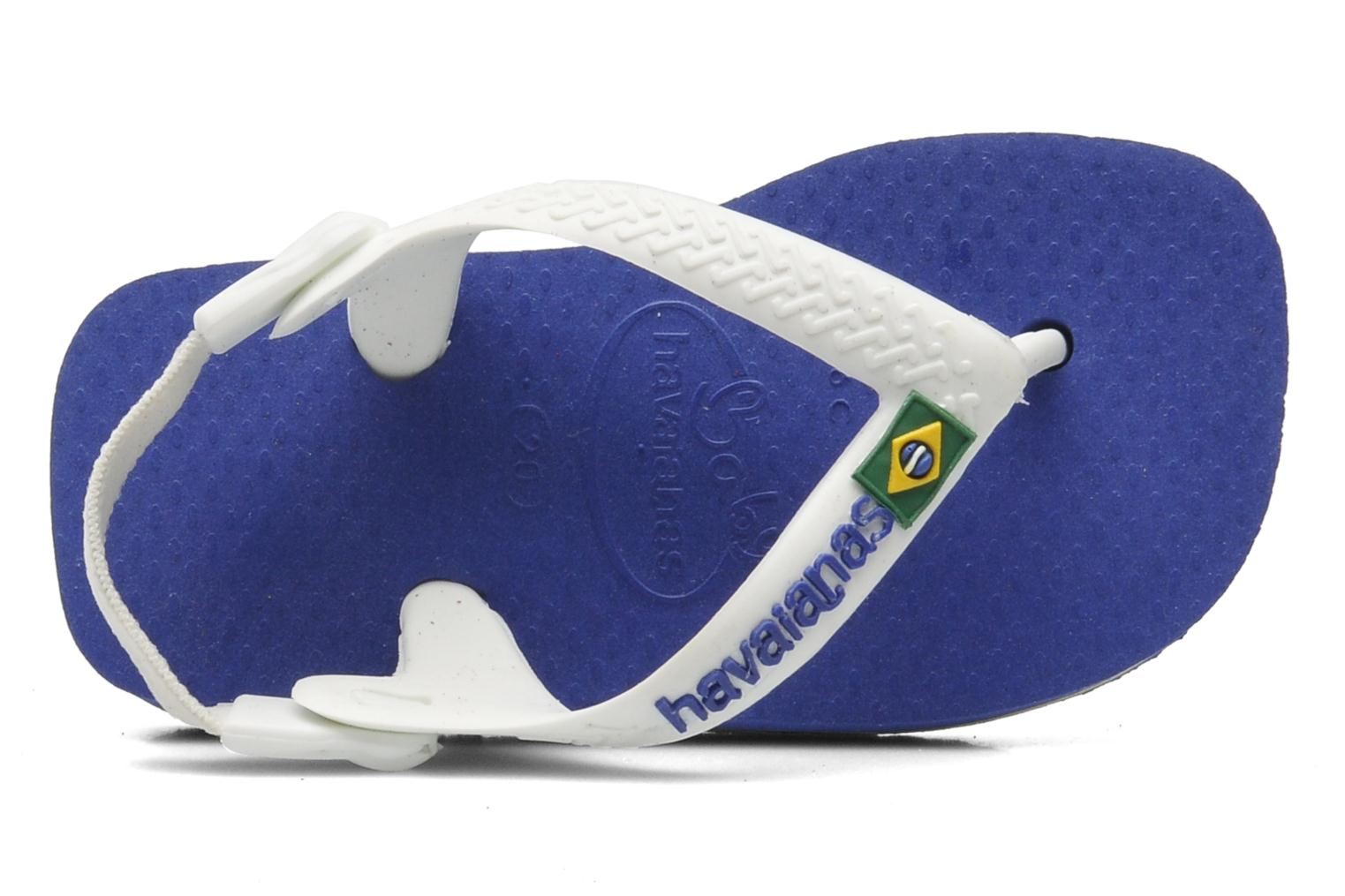 Flip flops Havaianas Baby Brazil Logo Blue view from the left