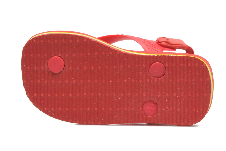 Chanclas Havaianas Baby Brazil Logo Rojo vista lateral izquierda
