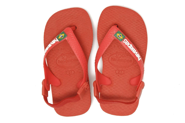 Chanclas Havaianas Baby Brazil Logo Rojo vista de arriba