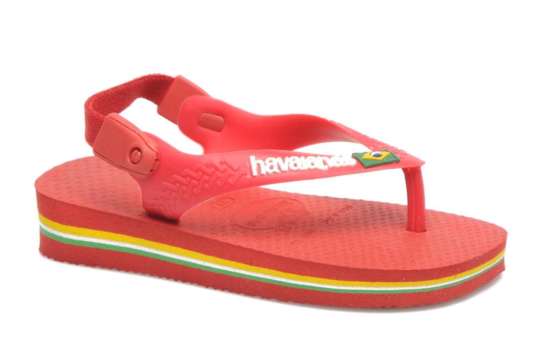 Tongs Havaianas Baby Brazil Logo Rouge vue détail/paire
