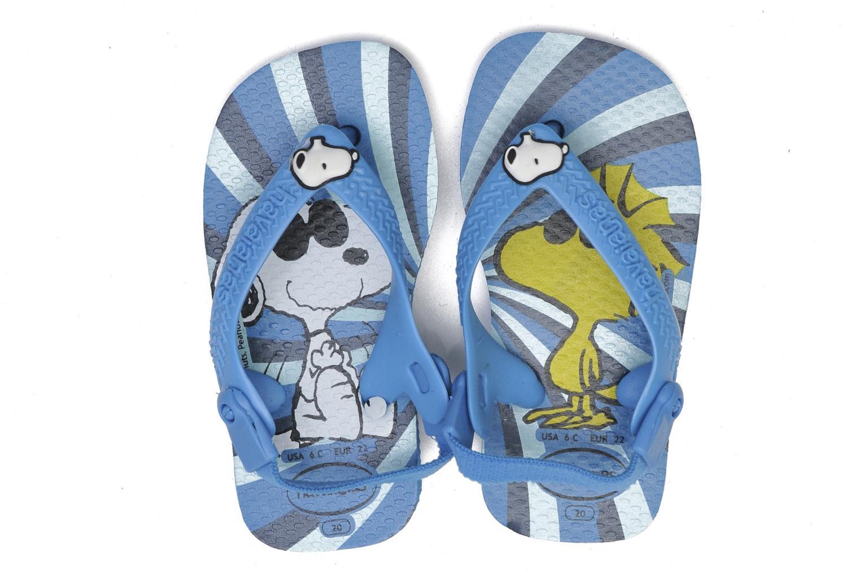 Tongs Havaianas Baby Snoopy Bleu vue 3/4