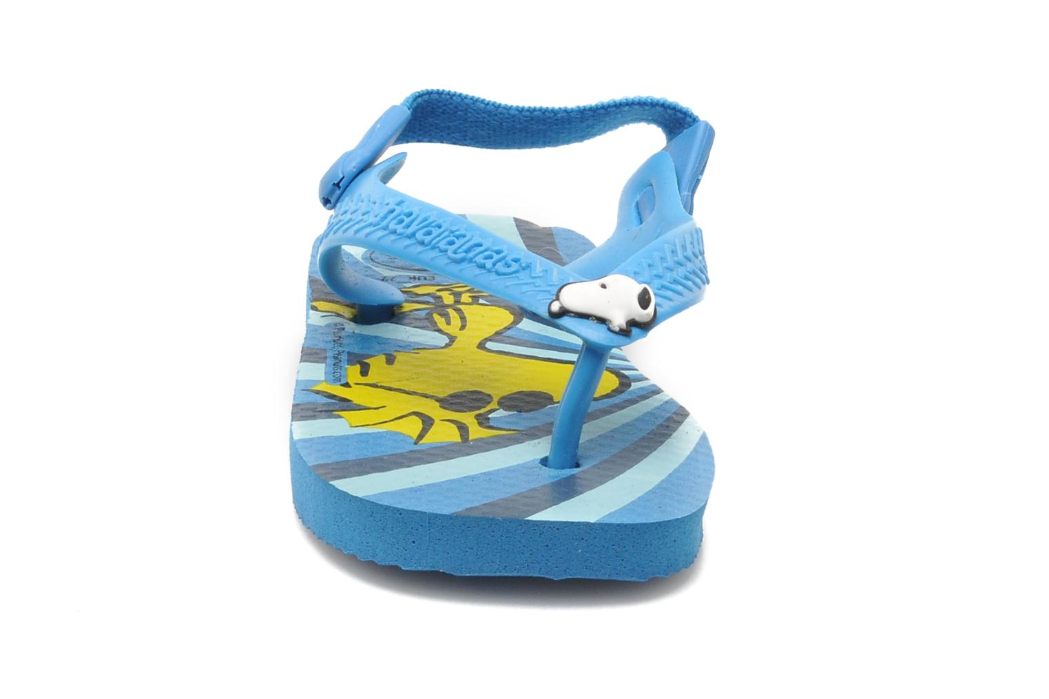 Tongs Havaianas Baby Snoopy Bleu vue portées chaussures