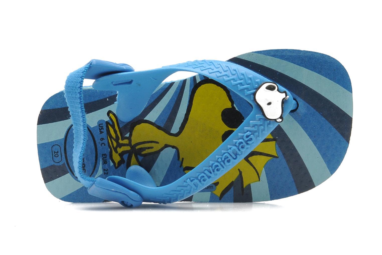 Tongs Havaianas Baby Snoopy Bleu vue gauche