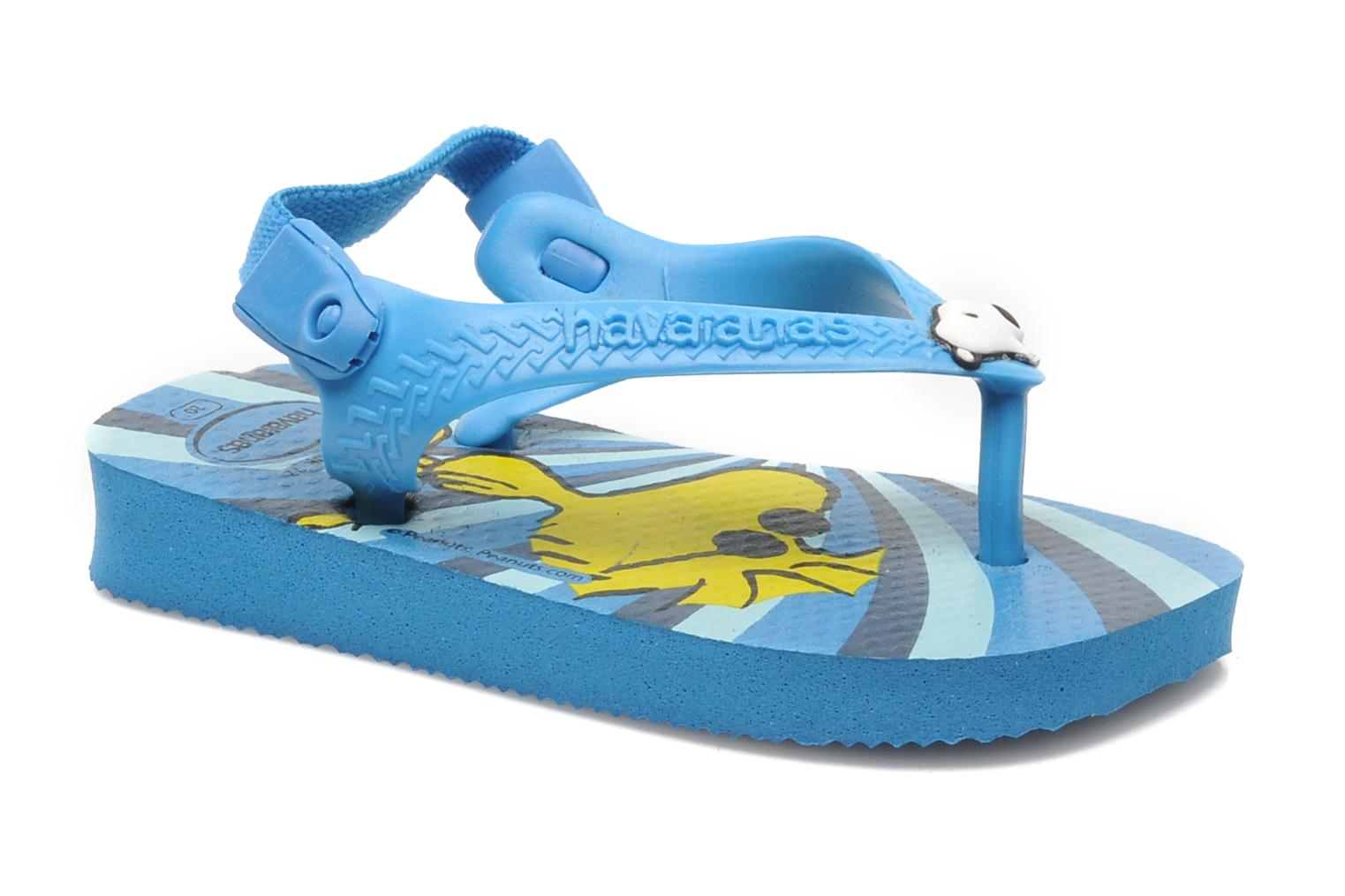 Flip flops Havaianas Baby Snoopy Blue detailed view/ Pair view