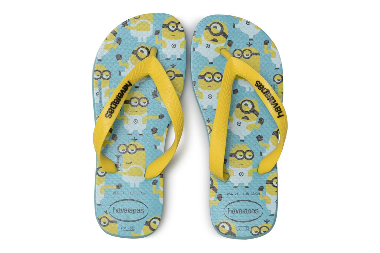 Tongs Havaianas Kids Minions Gris vue portées chaussures