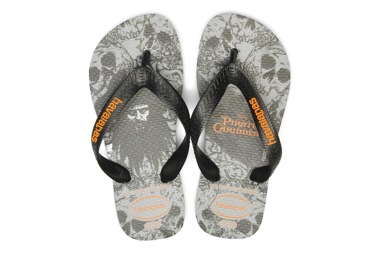 Flip flops Havaianas Kids Piratas Black 3/4 view