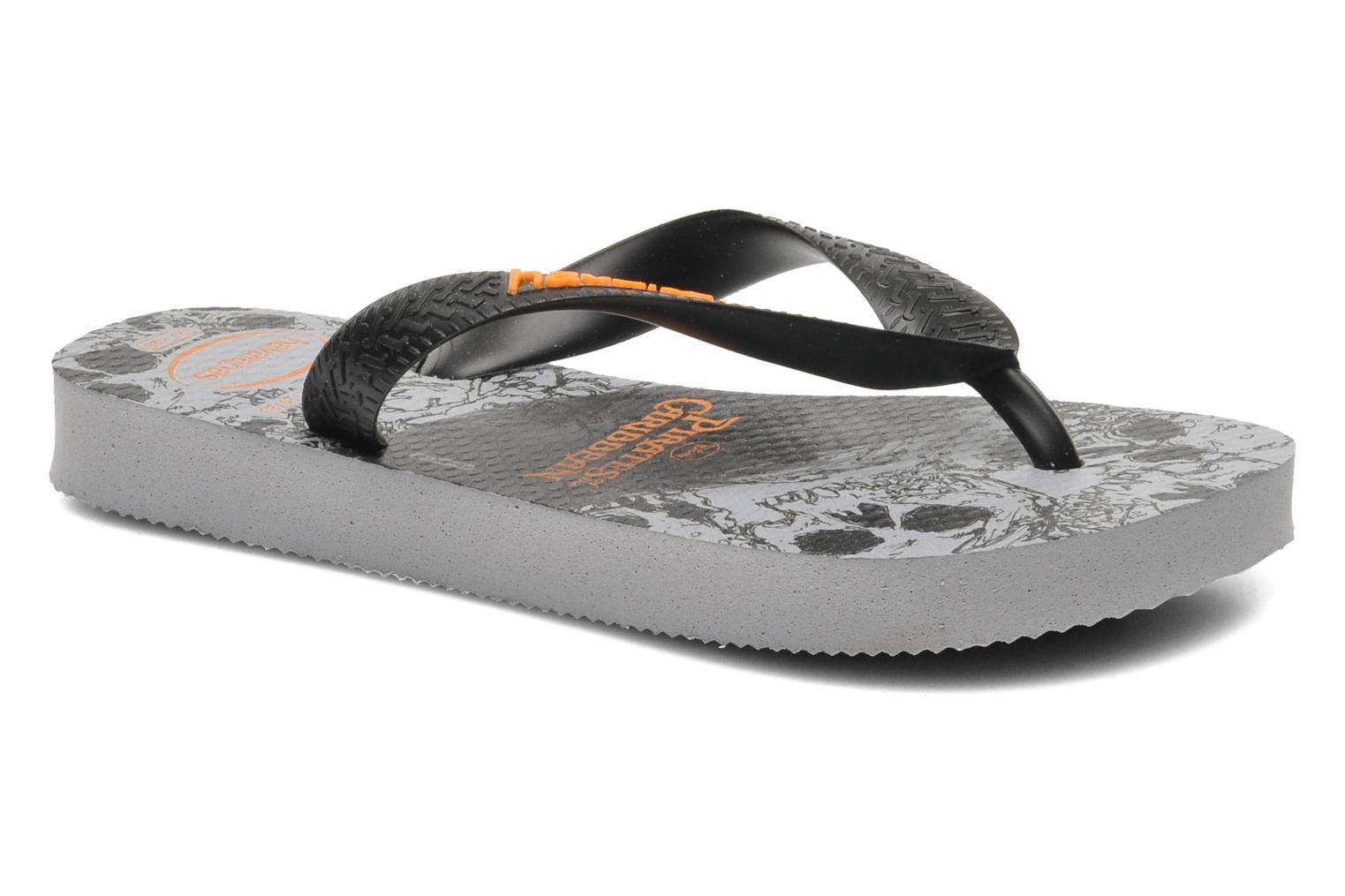 Flip flops Havaianas Kids Piratas Black detailed view/ Pair view