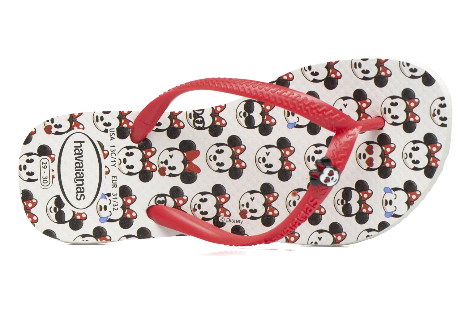 Flip flops Havaianas Kids Slim Disney Cool White view from the left