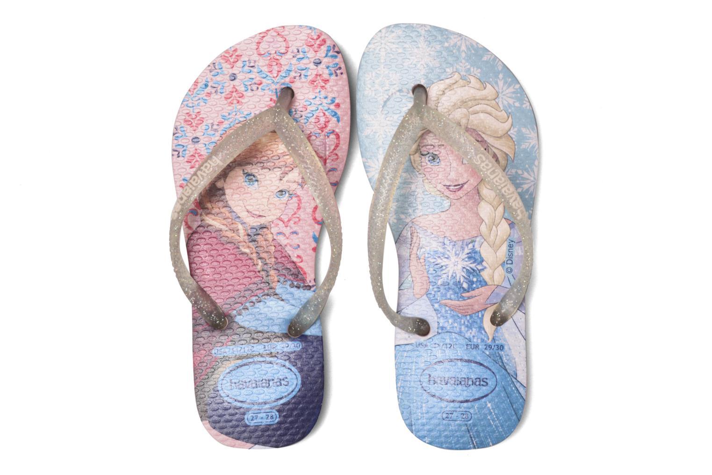 Flip flops Havaianas Kids Slim Frozen Pink 3/4 view