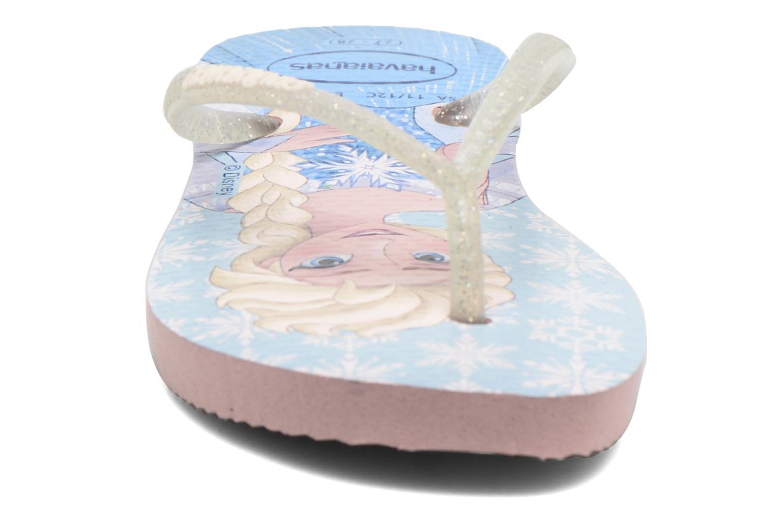 Flip flops Havaianas Kids Slim Frozen Pink model view