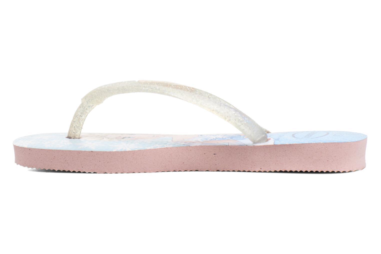 Flip flops Havaianas Kids Slim Frozen Pink front view