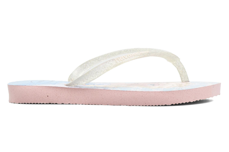 Flip flops Havaianas Kids Slim Frozen Pink back view