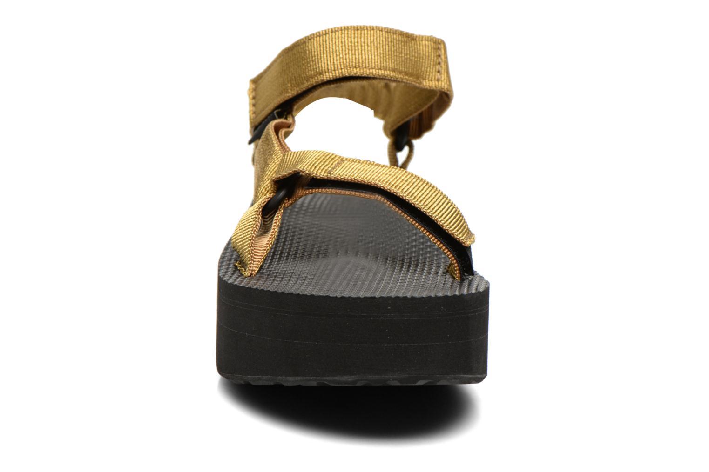 Sandalen Teva Flatform Universal gold/bronze schuhe getragen