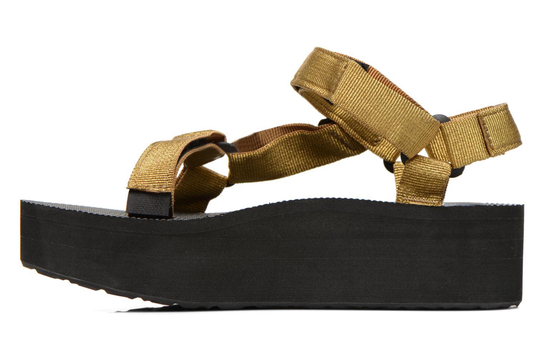 Sandalen Teva Flatform Universal gold/bronze ansicht von vorne