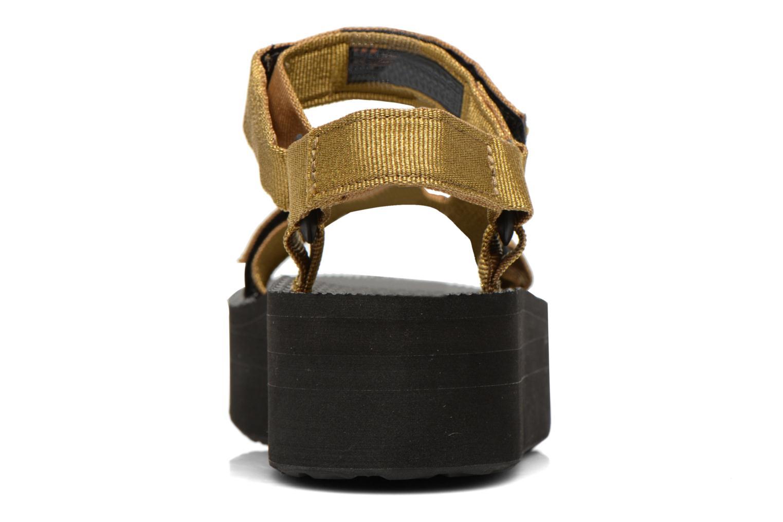 Sandalen Teva Flatform Universal Goud en brons rechts