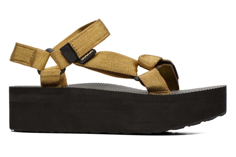 Sandalen Teva Flatform Universal Goud en brons achterkant