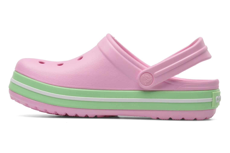Sandales et nu-pieds Crocs CrocbandKids Rose vue face