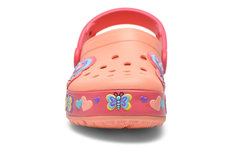 Sandales et nu-pieds Crocs CrocsLightsButterflyClogPS Rose vue portées chaussures