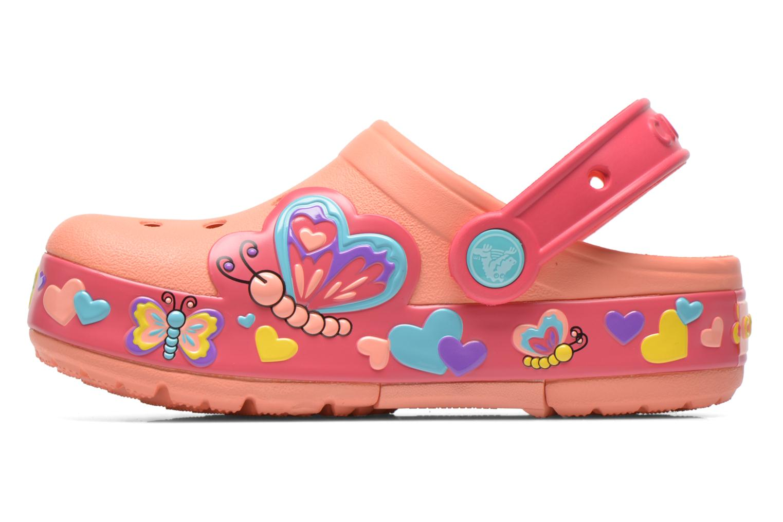 Sandales et nu-pieds Crocs CrocsLightsButterflyClogPS Rose vue face