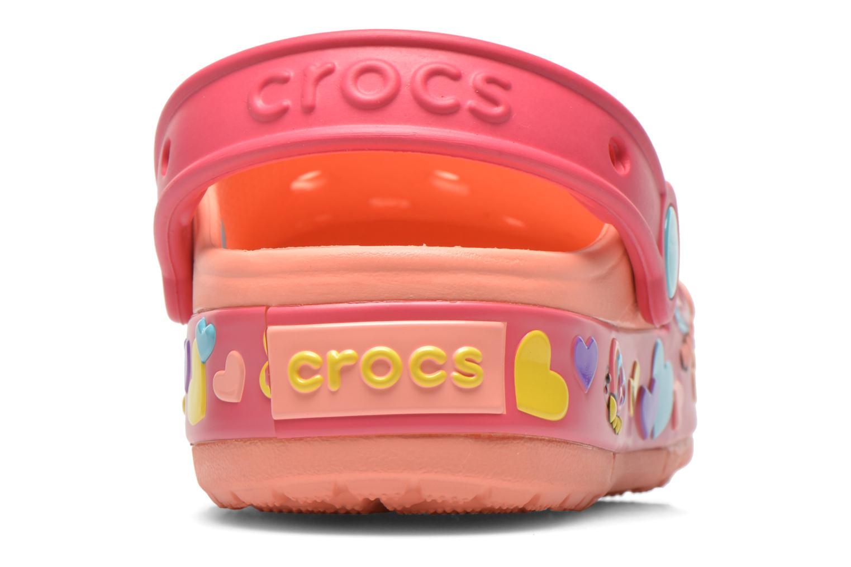 Sandales et nu-pieds Crocs CrocsLightsButterflyClogPS Rose vue droite