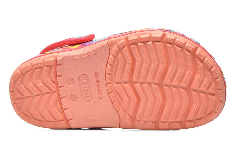 Sandales et nu-pieds Crocs CrocsLightsButterflyClogPS Rose vue haut